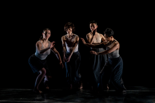From left  Alex Carrington  Tara McArthur  Chinchin Hsu and Suzette Sagisi in Katie Faulkner's Divining. Photo by Stephen Texeira