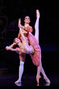 Principal Artists Beckanne Sisk and Chase O'Connell in Ballet West's The Nutcracker - Photo by Luke Isley