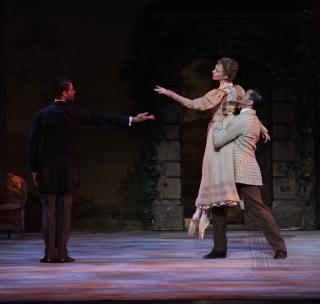 Victoria Hulland  Daniel Pratt & Ricardo Graziano in Sir Frederick Ashton's Enigma Variations - Photo Frank Atura
