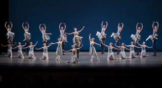 1. New York City Ballet in George Balanchine's Tschaikovsky Piano Concerto No. 2. Photo Credit Paul Kolnik