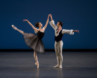 3. Maria Kowroski and Tyler Angle in George Balanchine's Mozartiana. Photo Credit Paul Kolnik