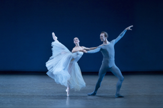 Lauren Lovette and Ask la Cour in George Balanchine's Serenade. Photo Credit Paul Kolnik