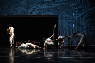 Ensemble in LFD's Close the Door Slowly. Photo by Stephen Texeira
