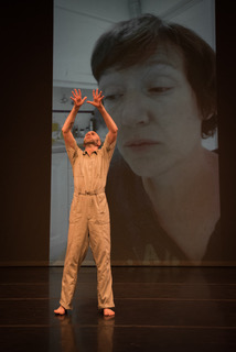Nol Simonse in Christy Funsch's 'Moves Cords Names'. Photo by HIllary Goidell